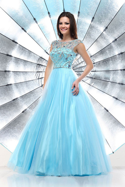 dress sky blue dress