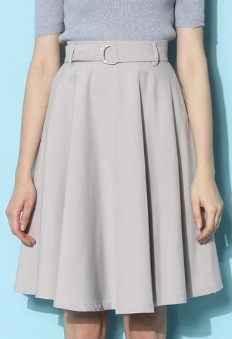 skirt chicwish a-line skirt grey skirt belted skirt spring skirt summer skirt chicwish.com belted skater dress