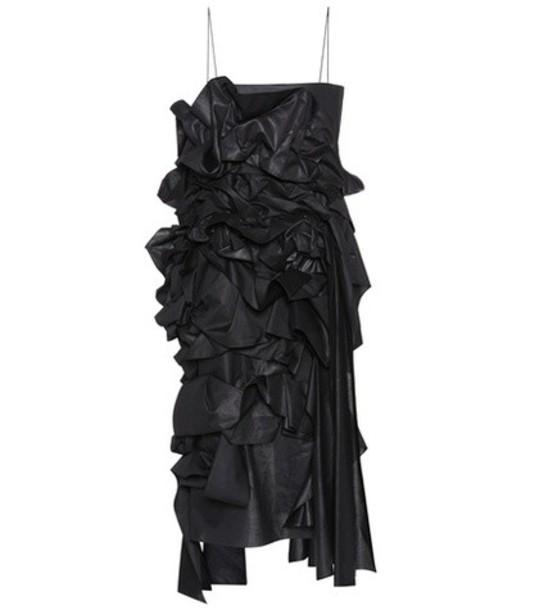 The Row Ganley cotton dress in black