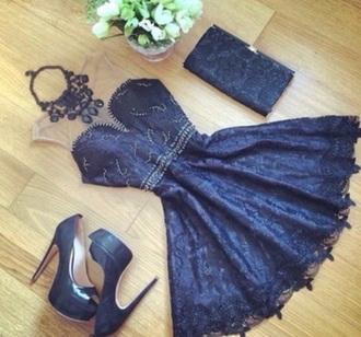 dress black dress cute hot amazing