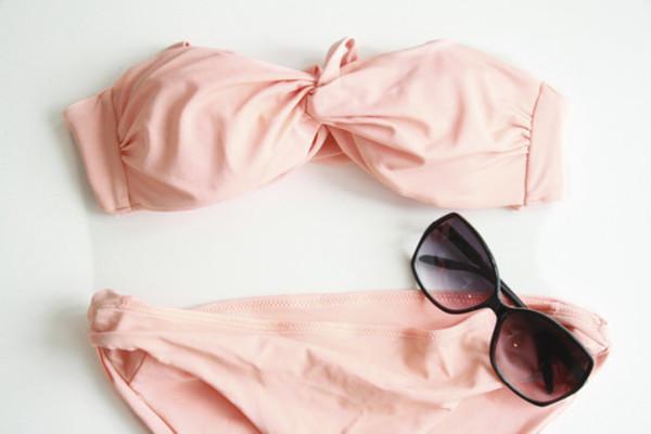 ... rose pâle torsadé - bikinis - maillots de bain / plage - femme