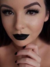 make-up,lipstick,matte,false eyelashes,eye shadow,black lipstick,shoes,espadrilles,summer,black and white,leather,summer shoes