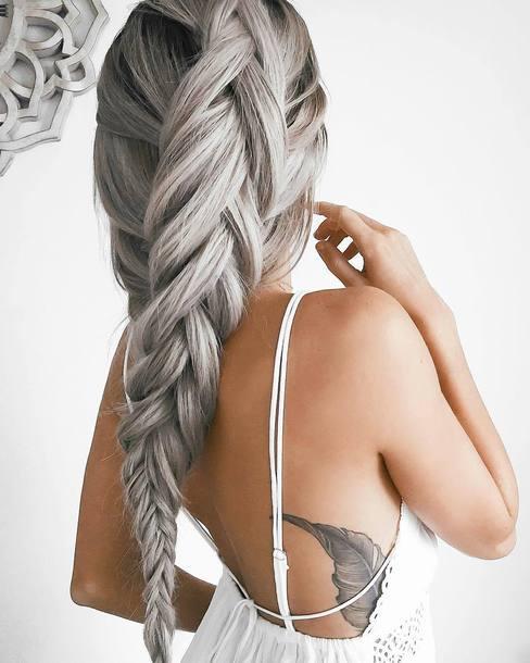 Hair Accessory Tattoo Tumblr Silver Hair Platinum Hair