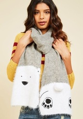 scarf,polar bear,lovely,winter outfits