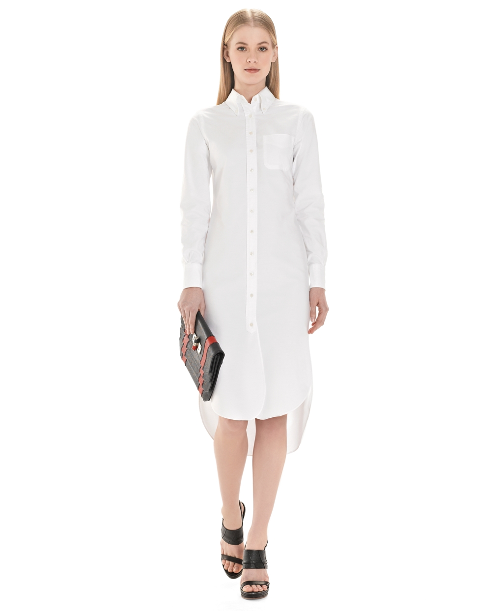 6065e16b150ab Women s White Button-Down Shirt Dress