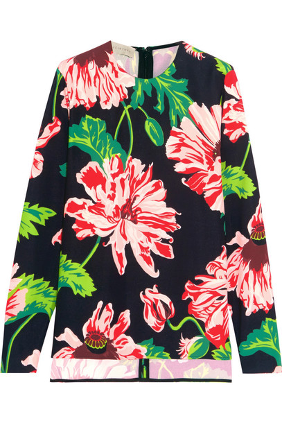 Stella McCartney top floral print pink green