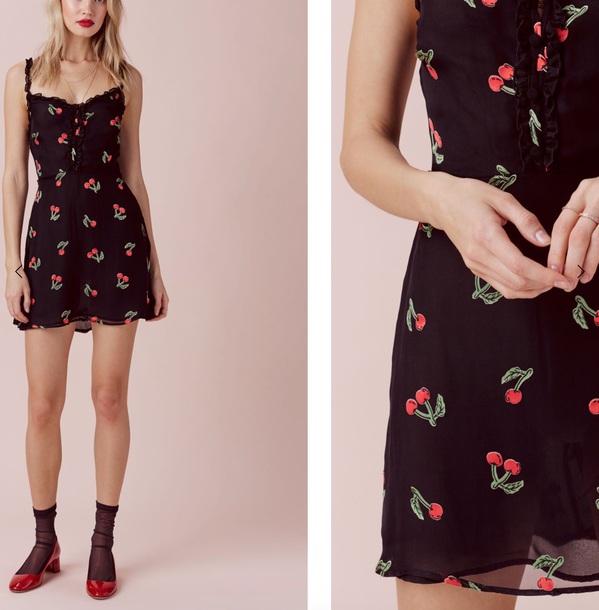 dress cherry blossom black dress