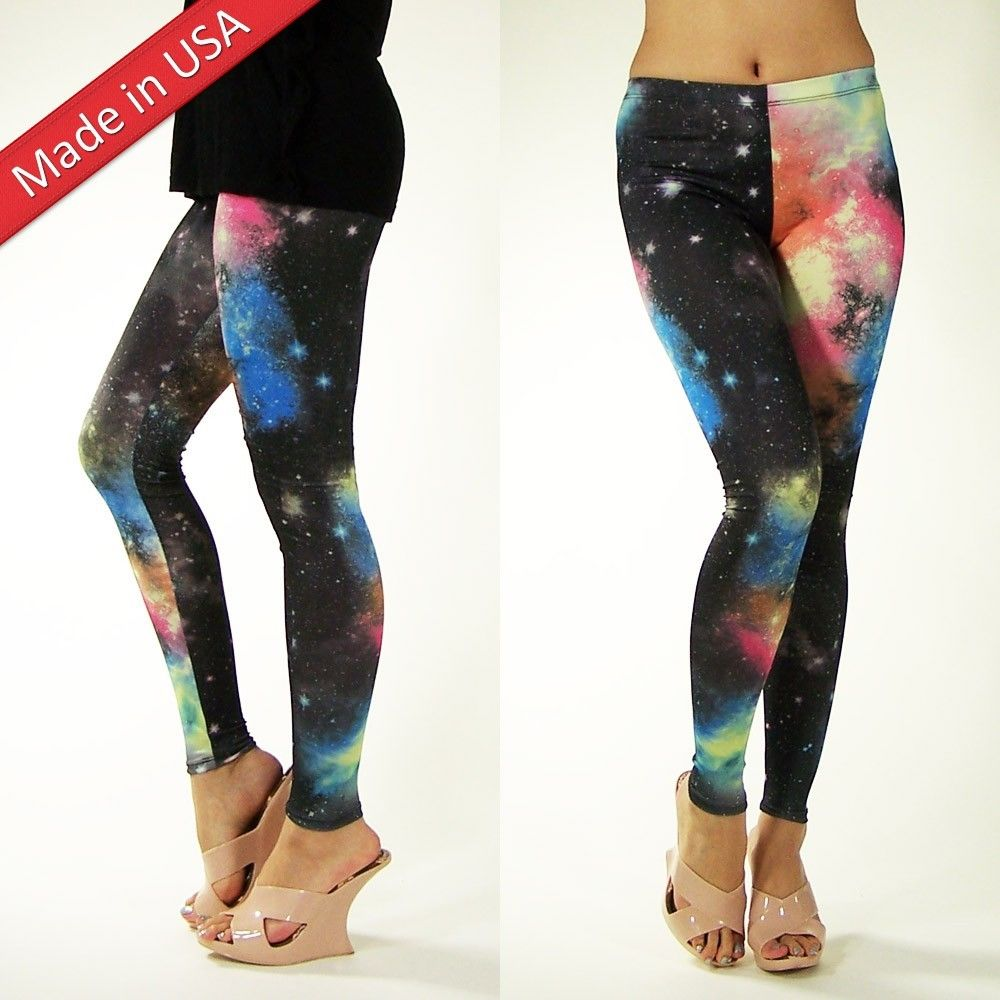 New 2013 trendy galaxy cosmic space hot leggings sexy tight pants made in usa