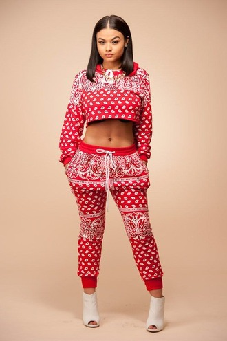 india westbrooks joggers westbrooks cropped sweater hoodie india love bandana print cropped hoodie dope shoes shirt sweater