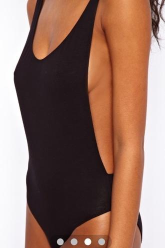 t-shirt bodysuit open sides