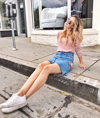 blue eyed finch blogger dress bag sweater skirt sunglasses jeans shoes t-shirt shirt