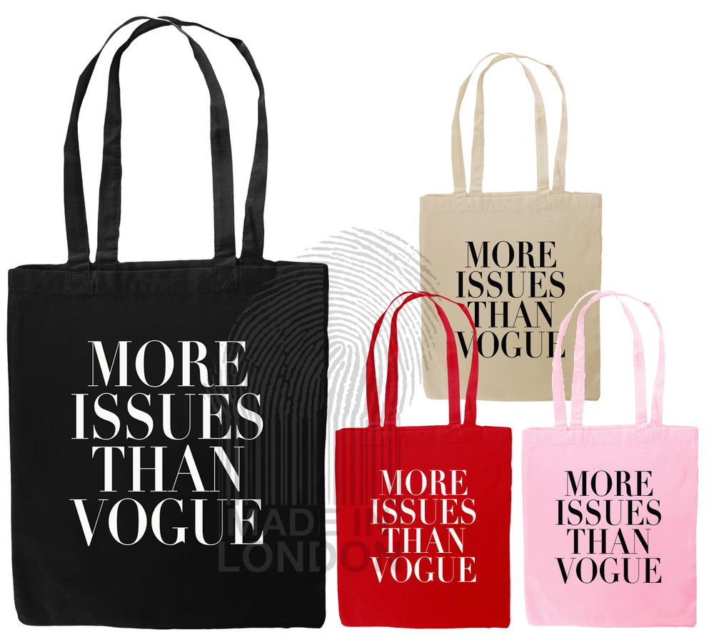 Issues Than Vogue Canvas Tote Bag Natural Cotton Shopper Eco ...