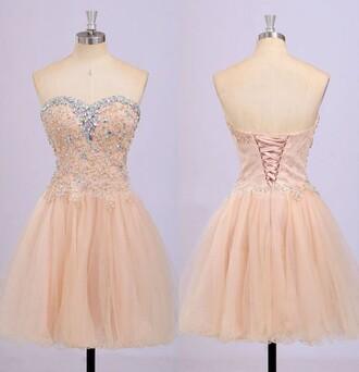 dress prom girly cute romantic tulle dress strapless dressofgirl