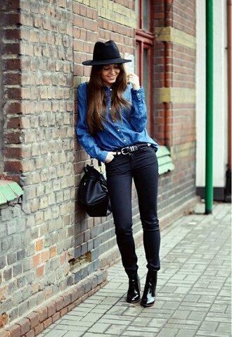 hat black hat fedora bag