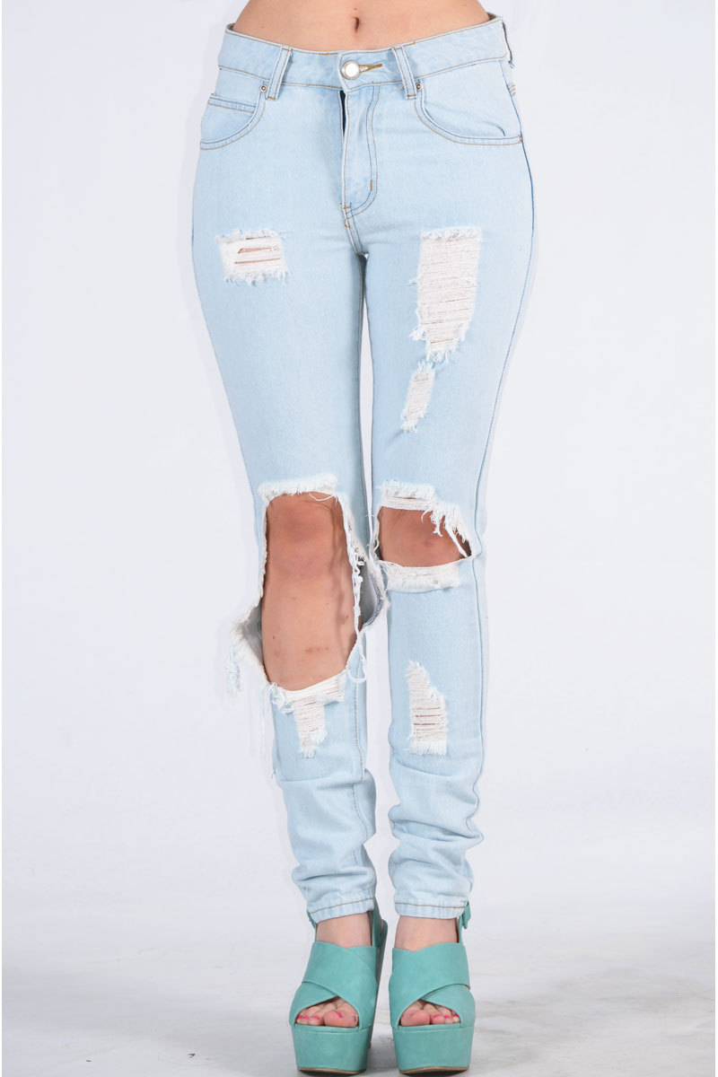 Banon Ripped Sky blue Denim Jean
