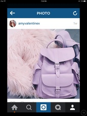bag,purple bag,puple bag,leather,backpack,purple