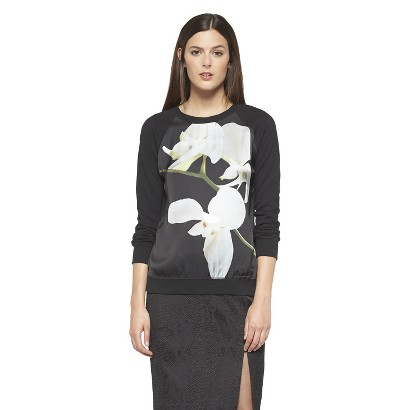 Altuzarra for Target Orchid Print Sweatshirt- Black
