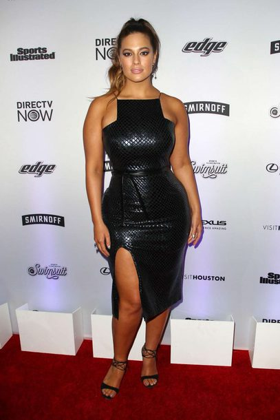 dress, black dress, leather, leather dress, ashley graham, curvy ...