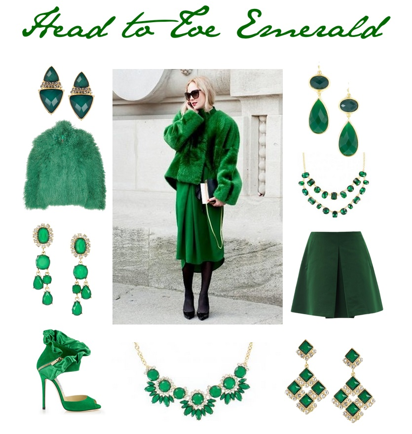 Emerald Harlequin Earrings