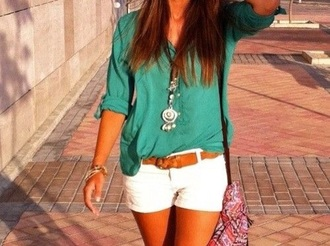 blouse turquoise shirt style spring green blouse
