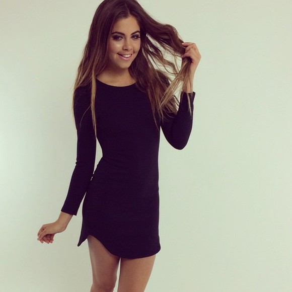 fitted dress black dresses short