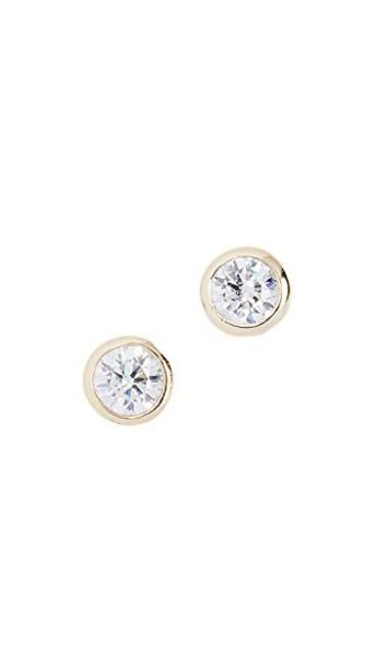 SHASHI earrings stud earrings gold yellow jewels