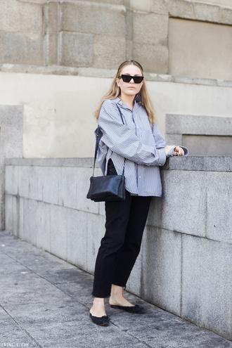 shoes flats manolo blahnik sandals pants black pants bag black bag sunglasses