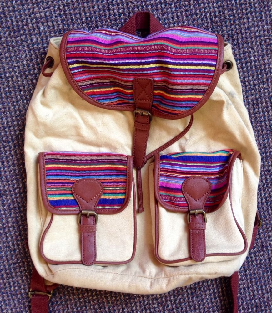 Urban outfitters festival colorful boho bohemian travel mexican stripe backpack