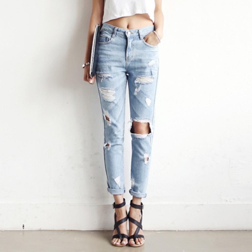 Vintage baggy cropped Jean