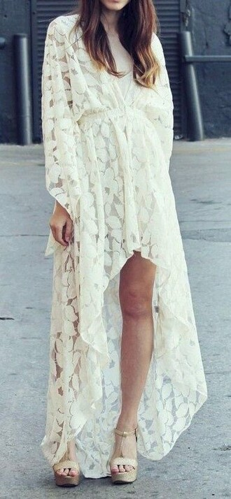 dress lace dress high-low dresses boho