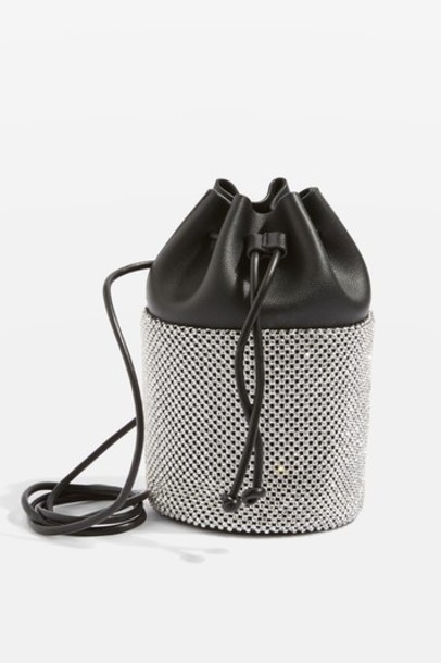 Topshop cross bag silver