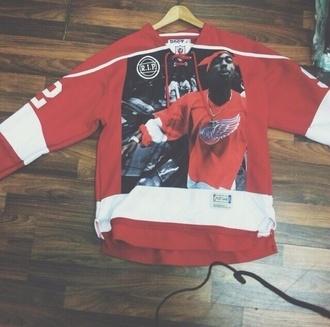 sweater red hip hop tupac dope r.i.p thug life top
