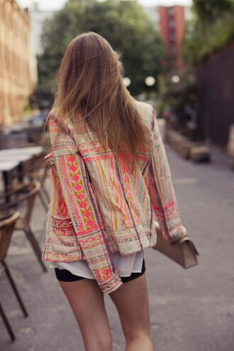 jacket aztec blazer multicolor bomber jacket