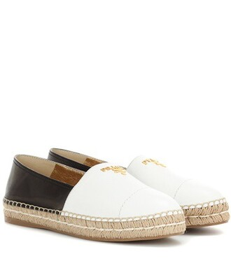 espadrilles leather white shoes