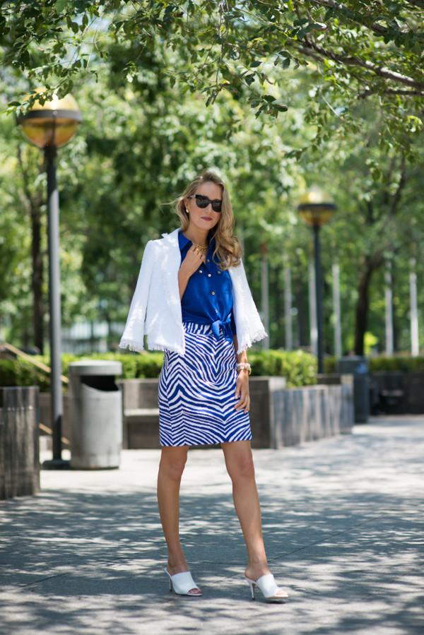 the classy cubicle skirt jacket shirt shoes jewels sunglasses