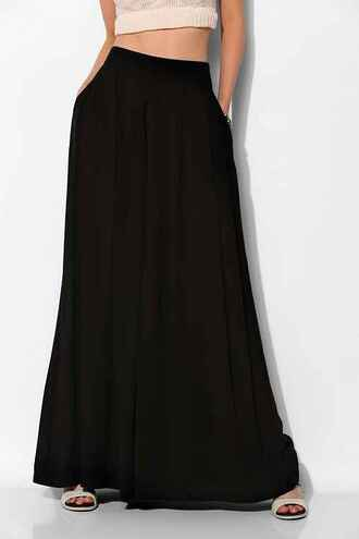 pleated high waisted chic pockets wide-leg pants