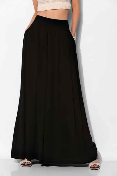 pockets pleated high waist chic wide leg pants