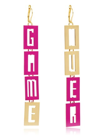 video games earrings gold jewels