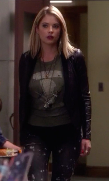 pretty little liars jacket ashley benson hanna marin jeans