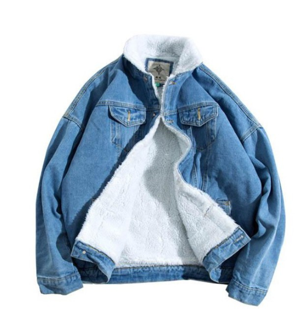jacket girly denim jacket denim fur fur jacket faux fur