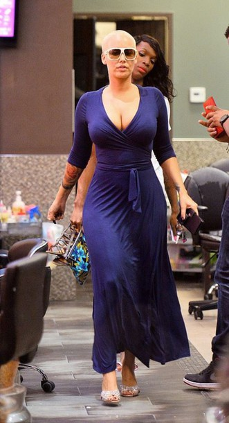 9794a23c77b5e8 dress maxi dress blue wrap dress amber rose