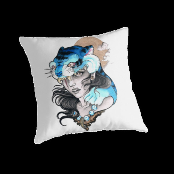 tiger print teller pillow