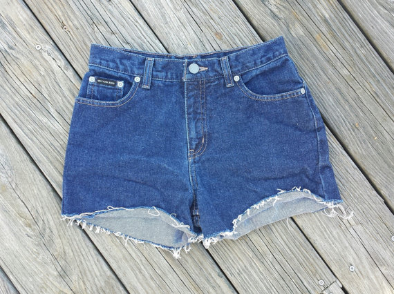 High Waisted Denim Shorts  High Waist Jean by TomieHarleneVintage