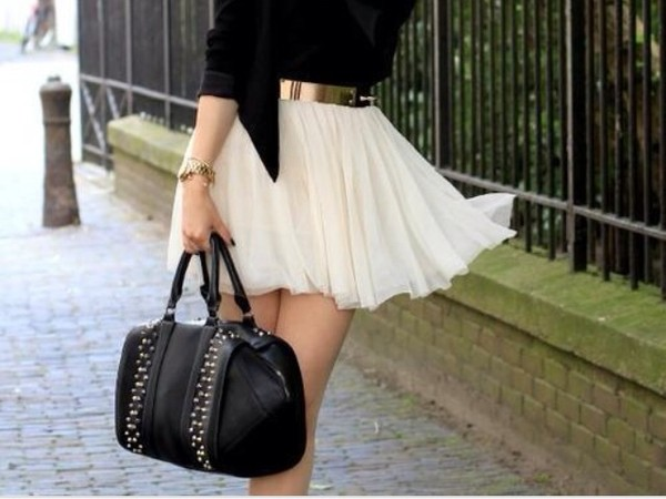 skirt mini skirt lights bag belt sweet skirt vest jacket pretty dress beige white dress amazing elegant jupe chiffon cute