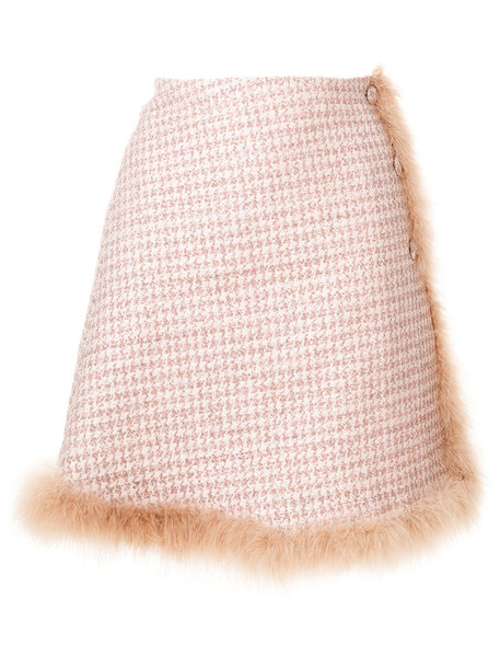 Daizy Shely skirt women wool purple pink