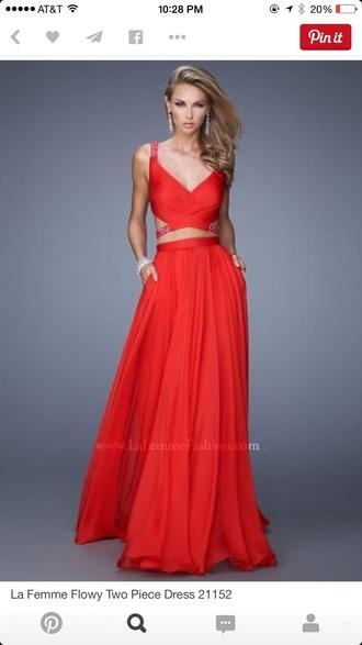 dress red crop tops red dress red maxi dress red skirt crop tops maxi skirt crossed back