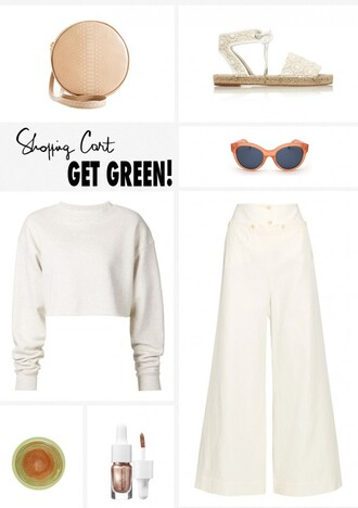 garance dore blogger top shoes bag sunglasses