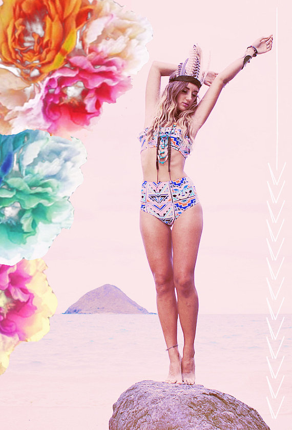 Kaawa hoch taillierte bikini bottoms  erstellen von peaceofparadise
