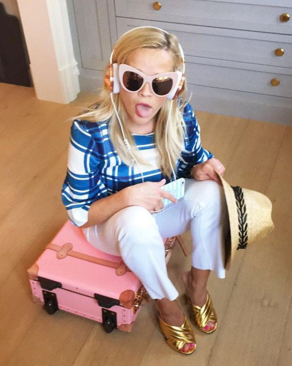 71391ca91fa shoes sunglasses pants blouse reese witherspoon hat instagram.