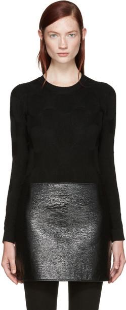 Junya Watanabe Black Ribbed Sweater